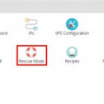 Rescue Mode Virtualizor