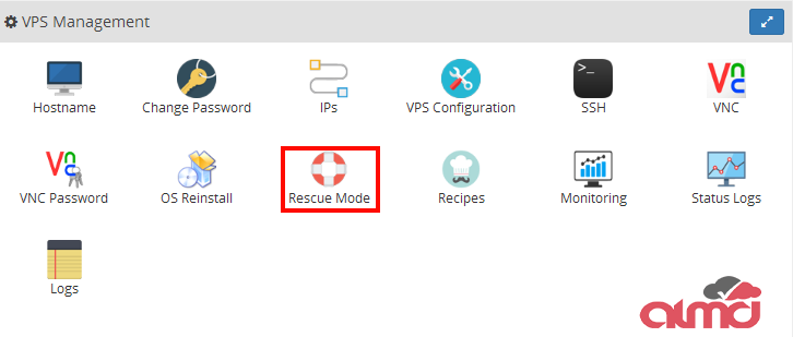 Rescue Mode Virtualizor