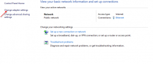 windows network adaptor