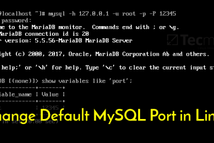 عوض کردن پورت MySQL/MariaDB در لینوکس