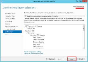 تایید نصب سرور منجر ویندوز