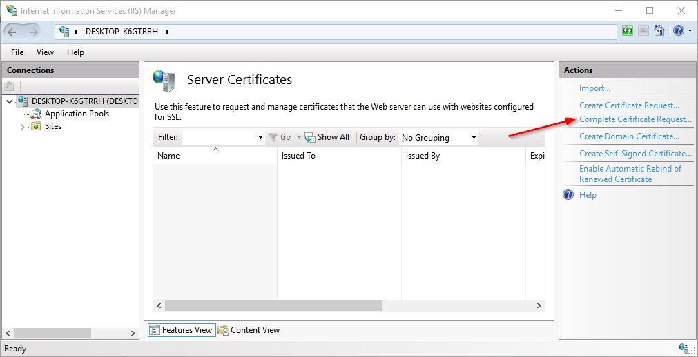 iis ssl certificate
