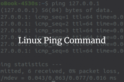 دستور پینگ در لینوکس