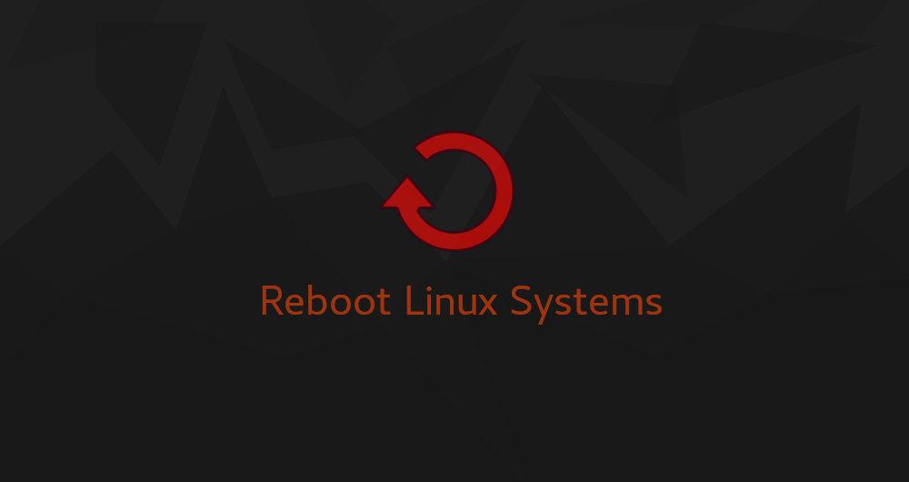 ریبوت لینوکس از طریق خط فرمان